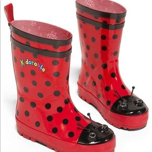 Kidorable Girls Ladybug Rain Boots Many Sizes